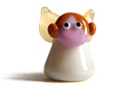 Alberta angel ivory and amber handmade lampwork glass beads