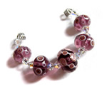Mulberry pale amethyst glass lampwork beads