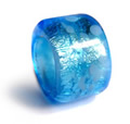 Blue and silver dread bead
